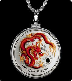 My fave Australian Silver Coin pendant :) Beautiful Dragon, Dragon Necklace, Coin Grading, Coin Pendant, Silver Coins, Really Cool Stuff, Gold, Accessories, Conservation
