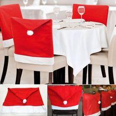 PcsPce Christmas Snowflake Red Hat Chair Cover Kitchen Di Amazon Dp B01NA77JVS Refcm Sw R Pi X HWBxyb9SY5ZQS