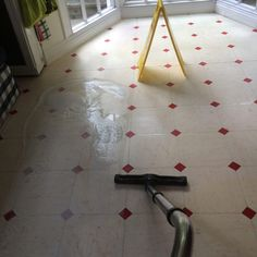 Dirty, worn and scratched Vinyl floor stripping and sealing Surrey. Vinyl Floor Cleaners, East Sussex, Vinyl Flooring, Surrey, Hampshire, Cleaning, Vinyl Floor Covering, Hampshire Pig, The Hampshire