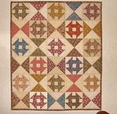 Churn Dash wall quilt | Flickr - Photo Sharing! Cute Quilts, Scrappy Quilts, Baby Quilts, Small Quilts, Mini Quilts, Plaid Quilt, 9 Patch Quilt, Doll Quilt, Quilted Wall Hangings