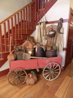 A Primitive Place Primitive Living Room, Primitive Homes, Primitive Fall, Primitive Furniture, Primitive Antiques, Country Primitive, Primitive Decor, Primitive Kitchen, Antique Furniture
