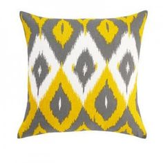 Yellow gray ikat--I think I'll take a few of these please!