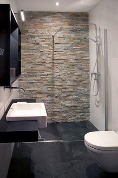 Simple Bedroom Design, Modern Bathroom Design, Bathroom Interior Design, Small Shower Room, Small Toilet Room, Tiny Bathrooms, Small Bathroom, Stone Bathroom, Bathroom Collections