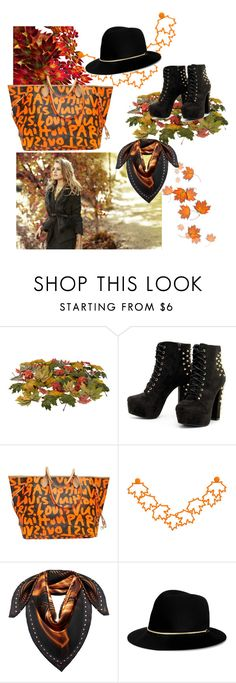 """""""FALL in love!"""" by soraya-style ❤ liked on Polyvore featuring Ann Taylor, Louis Vuitton, MCM, Janessa Leone, Fall and set"""