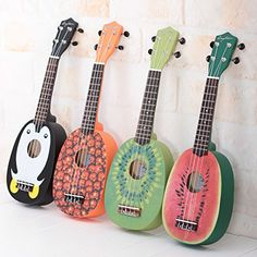Colorful Animal and Fruit Handmade Ukuleles - Gifts for tween girls cool