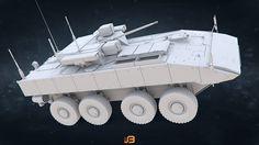 ArtStation - Russian Army Armored Personnel Carrier K-17 Bumerang , Stanislav Boldienkov