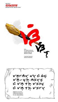 [FREE FONT] Baybayin SISIL Brush Style Font on Behance History Projects, School Projects, Baybayin, Hand Drawn Fonts, Title Font, Filipiniana, Brand Fonts, Text Overlay, Tagalog