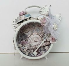 Shabby altered clock