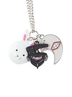 Tokyo Ghoul Cosplay Costume Kaneki Ken Dark Iron Mask Pendant Necklace V1
