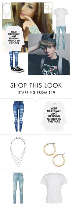 """""""[TZA] Reese and Lucus"""" by totalloser ❤ liked on Polyvore featuring WithChic, Banana Republic, Nordstrom, AMIRI and Converse"""