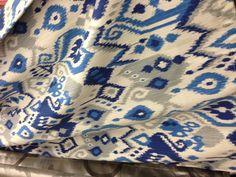 Beau Custom IKAT Shower Curtain   Any Color   Shown Yellow Wht Turq, Roy Blue White Turq.  Turq Blue, And Navy  Turquoise Combos | Splish Splash Bathroom Ideas ...