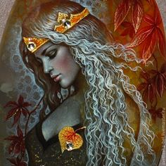 The Queen of Autumn - Miniature painting artist Svetlana Belovodova