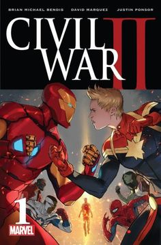 SUNDAY BOMB DROP! the first look at the cover and a little hints of the lines drawn in the sand for CIVIL WAR 2 plus a very rare look inside the writer's retreat where a lot of this was...