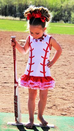 Baseball Ruffle Dresses- IN STOCK!!! | Sparkle in Pink