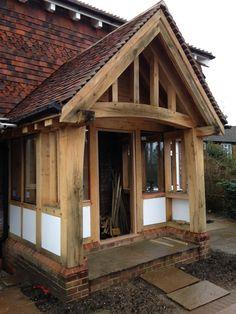 Porch Uk, Porch Roof, Front Porch, Porch Canopy, Beam Structure, Garden Structures, Bespoke Design, Pergola, Cottage