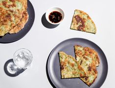 These scallion pancakes are still the crispy, chewy, onion-y, salty delights, minus the gluten. The dough is a little trickier to work with than your average wheat flour based recipe, but it's totally worth it, and once you get the hang of it, you'll be flying. Just keep that rice flour handy for dusting your dough surface and rolling pin.