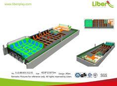 Large Indoor Trampoline Park Design