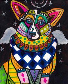 CORGI ART  Angel Dog Heather Galler Poster by HeatherGallerArt, $16.00