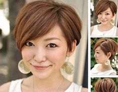 Charming and Attractive Pixie Cut with Cool Side-swept Bangs.... If I'm ever skinny and go super short!!