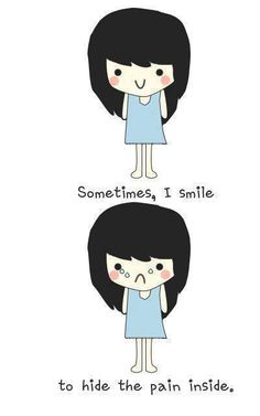 i smile to hide the pain