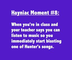 Hahaha! I Would Definitely Have Done This Is Hunter Hayes Was Around When I Was In Public School :D