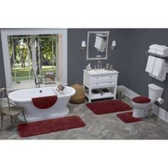 Better Homes and Gardens Extra Soft Bath Rug, Red
