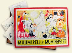 Moomin game, from the Suomenlinna Toy Museum collection in Helsinki, Suomenlinna.