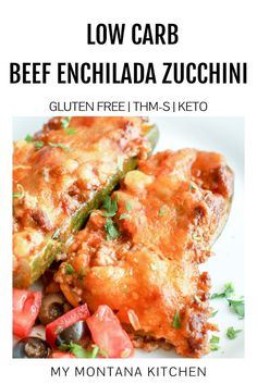 If you're trying to eat low carb, try these beef enchiladas stuffed zucchini boats. You can whip up these low carb beef enchiladas stuffed in zucchini in under 30 minutes! They're lighter, tastier, and easier to make than traditional beef enchiladas. Low Carb Dinner Recipes, Sugar Free Recipes, Lunch Recipes, Low Carb Recipes, Beef Recipes, Whole Food Recipes, Chicken Recipes, Healthy Recipes, Mexican Recipes