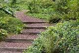 Wooden exterior stairs and landscape steps on the slopes, ideas for natural landscaping - Garden Design DIY Outdoor, Landscape Steps, Hillside Landscaping, Natural Landscaping, Landscaping A Slope, Landscape Design, Outdoor Gardens, Landscaping On A Hill, Garden Steps