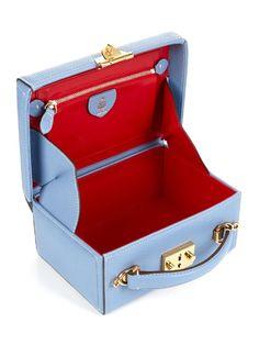 Mark Cross Grace small leather box bag Small Leather Bag, Leather Box, Popular Purses, Mark Cross, Box Bag, Luxury Bags, Luxury Handbags, Vintage Handbags, Small Bags