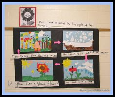 """Collaborative Mural of Eric Carle's """"Tiny Seed"""" (Eric Carle RoundUP at RainbowsWithinReach)"""
