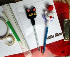 Crochet, Amigurumi, Hiasan Pensil Rajut, top pencil
