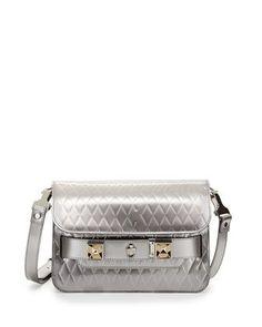 Proenza Schouler PS11 Embossed Mini Classic Shoulder Bag, Silver - Bergdorf Goodman