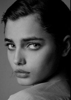 melancholically beautiful girl