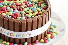 Geburtstags-Smartie-Kuchen