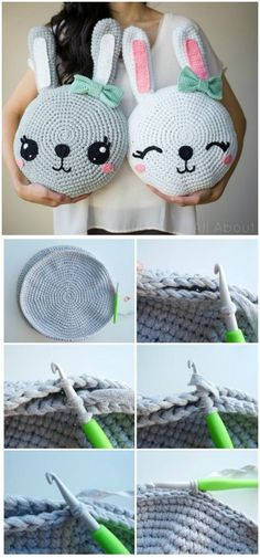 Here we have shared a grand list of free crochet amigurumi patterns that all makes perfect cuddly toys and can also be used as best lovey to your babies!Snuggle Bunny Pillows Free Pattern