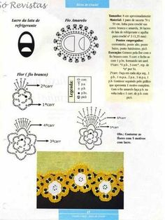 Crochet Tin Rings - Chart