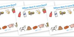 11 Awesome food where does it come from worksheet images