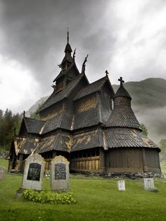 Borgund Stave church, Borgund, Laerdal, Norway
