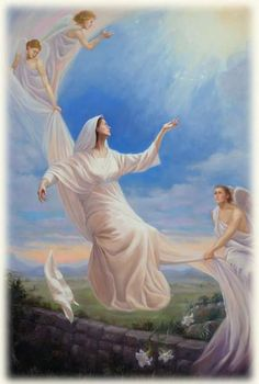 Assumption of Blessed Mother Mother In Heaven, I Love You Mother, Queen Of Heaven, Jesus Mother, Blessed Mother, Mother Mary, Catholic Art, Religious Art, Assumption Of Mary