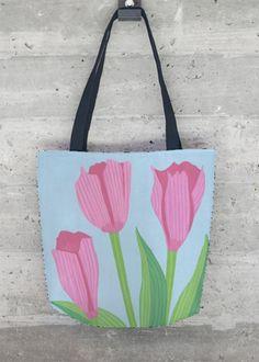VIDA Tote Bag - Pink Tulips by VIDA G5T2w