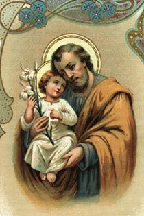 St. Joseph, earthly father to Jesus, carpenter, patron saint of my home church and my grade school.