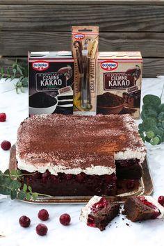 Kostka Wiśniowa - przepis Marty Cookie Desserts, Dessert Recipes, Cake Cookies, Tiramisu, Food And Drink, Ethnic Recipes, Thermomix, Tiramisu Cake, Desert Recipes