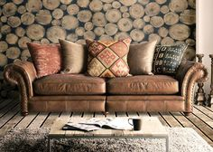 Lexington Leather And Fabric Sofa Collection from George Tannahill & Sons