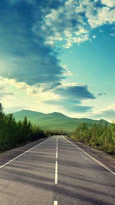 Sunshine Road Mountain View #iPhone #5s #wallpaper