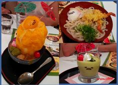 Gudetama foods at the limited Gudetama cafe