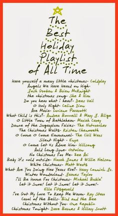 Songs to add Sparkle to your Holidays - Winter,Holiday Playlists.Songs to add Sparkle to your Holidays I love Holiday songs…and listen to them from the day After Thanksgiving, till the Epiphany. Merry Little Christmas, Noel Christmas, Winter Christmas, Christmas Wrapping, Christmas Gifts, Christmas Things, Christmas Playlist, Christmas Song Quotes, Christmas Song List