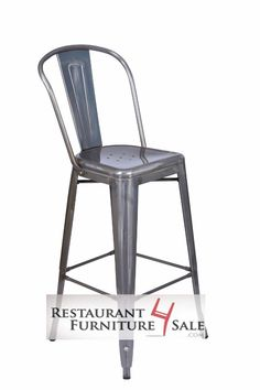 Industrially chic restaurant design is making vintage steel furniture new again. With a matching restaurant chair, this bar stool is a great look for your bistro, cafe, or anywhere with a hipster vibe.  The Viktor features:16-gauge rolled