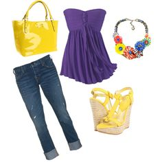 I love yellow, wedges, and Kate spade :), created by jessica-badgley-rojas