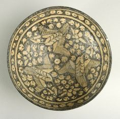 Sultanabad Bowl - Origin: Central Asia Circa: 14 th Century AD Dimensions: high x wide Collection: I. Islamic Paintings, Islamic Patterns, Central Asia, Ceramic Pottery, Iran, Metals, Stoneware, Miniatures, Traditional